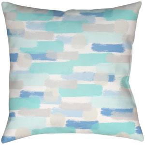 Seaside Splendor Sky Blue 18 x 18-Inch Throw Pillow