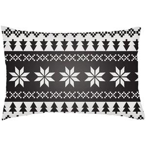 Snowflake Sweater White 24 x 14-Inch Throw Pillow