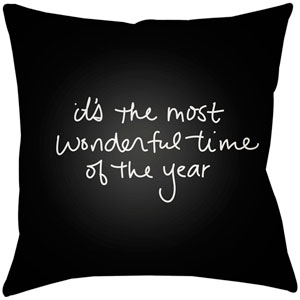 Wonderful Time Black 16 x 16-Inch Throw Pillow