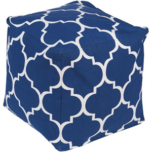Blue and Neutral Playhouse Cube Pouf