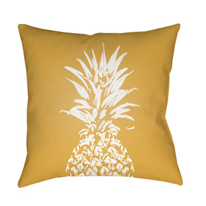 Pineapple Yellow and White 18 x 18-Inch Throw Pillow