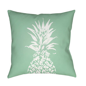 Pineapple Green and White 18 x 18-Inch Throw Pillow