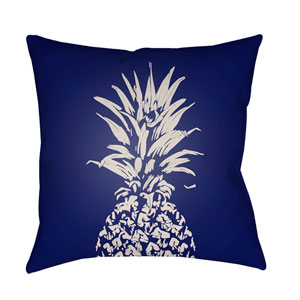 Pineapple Blue and White 18 x 18-Inch Throw Pillow