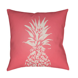 Pineapple Pink and White 18 x 18-Inch Throw Pillow