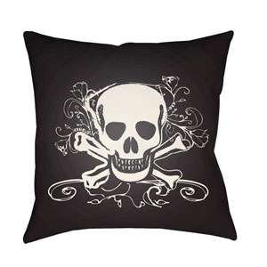 Punk White and Black 20 x 20-Inch Pillow