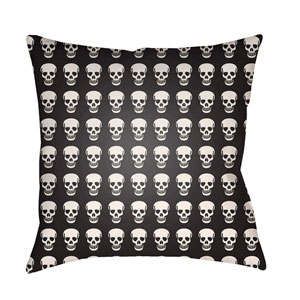Punk Black and White 18 x 18-Inch Pillow