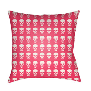 Punk Bright Pink and White 20 x 20-Inch Pillow