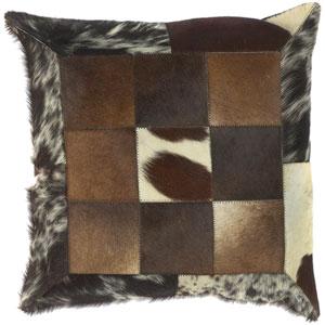 Checkerboard Animal Print 18 x 18 Pillow w/ Down Fill