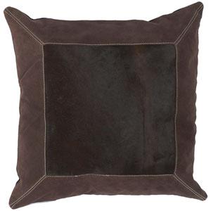 Espresso Bordered 18 x 18 Pillow w/ Down Fill