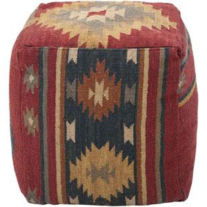 Wool Kilim Square Pouf Ottoman I
