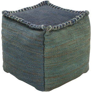 Blue and Green Poufs Cube Pouf