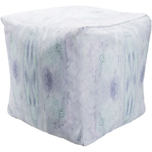 Surya Poufs Blue and Purple Pouf