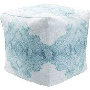 Surya Poufs Blue Pouf