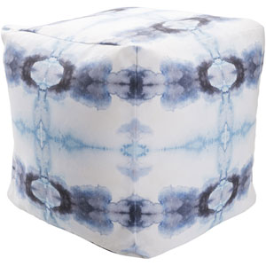 Surya Poufs Blue and Navy Pouf
