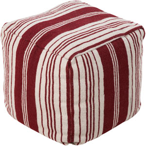 Carnelian and Antique White Pouf
