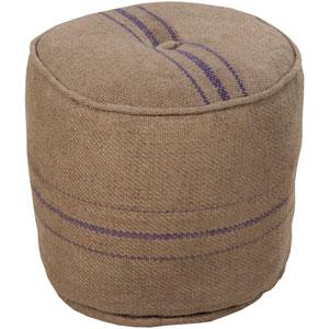 Grain Sack Round Pouf Ottoman