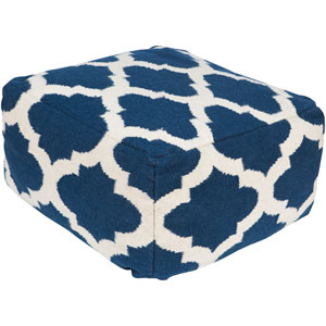 Lattice Blue Pouf