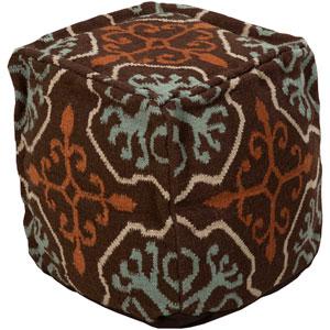Wool Kilim Square Pouf Ottoman III