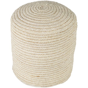 Pinmar Butter and Tan Pouf