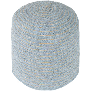 Pinmar Gray and Tan Pouf