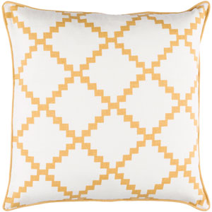 Parsons Neutral and Yellow 20-Inch Pillow Cover