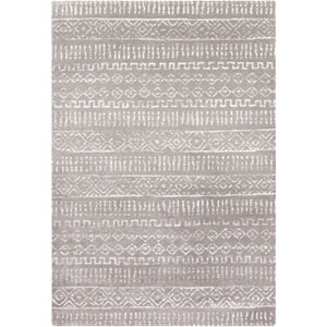 Perla Ivory and Charcoal Rectangular: 2 Ft x 3 Ft Rug