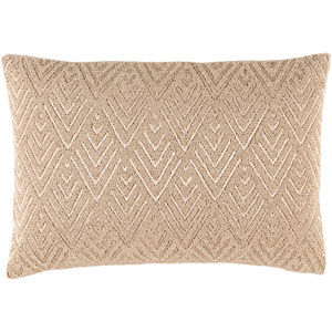 Prescott Beige 13 x 19-Inch Pillow with Down Fill