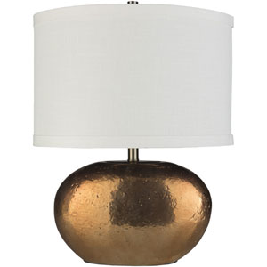 Proximity Copper Glazed Base Table Lamp with White Shade
