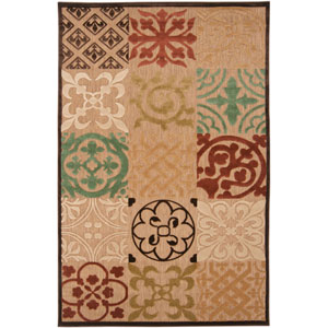 Portera Natural Rust and Avocado Rectangular: 8 ft. 8 in. x 12 ft. Rug