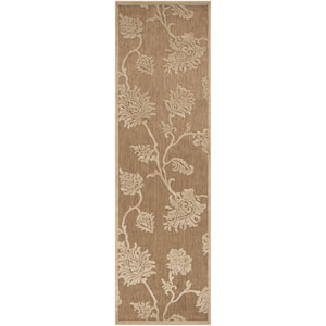 Portera Natural and Ivory Rectangular: 2 ft. 6 in. x 7 ft. 10 in. Runner