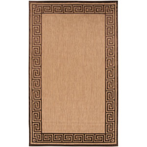 Portera Natural and Chocolate Square: 7 ft. 6 in. x 7 ft. 6 in. Rug