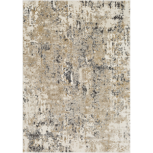 Pune Beige and Taupe Rectangular: 6 Ft. 7 In. x 9 Ft. 6 In. Rug