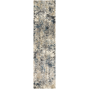 Pune Taupe and Charcoal Runner: 2 Ft. 7 In. x 10 Ft. 3 In. Rug