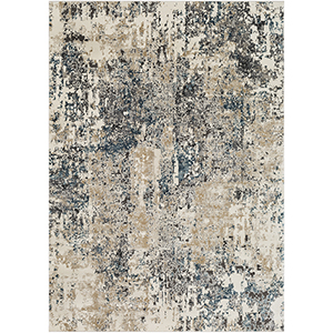 Pune Taupe and Charcoal Rectangular: 6 Ft. 7 In. x 9 Ft. 6 In. Rug