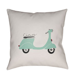 Ciao Multicolor 20 x 20-Inch Throw Pillow