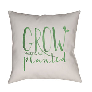 Grow Green and Beige 20 x 20-Inch Throw Pillow