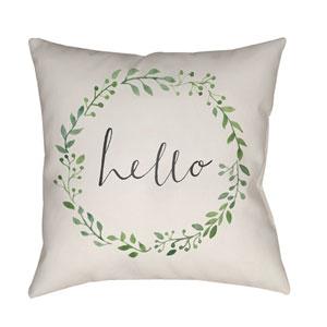 Hello Multicolor 18 x 18-Inch Throw Pillow