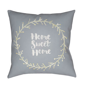 Home Sweet Home II Multicolor 20 x 20-Inch Throw Pillow