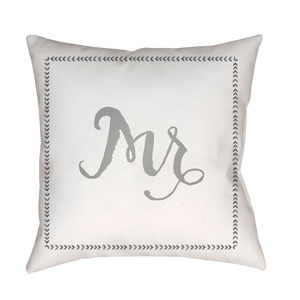 Husband Gray and White 18 x 18-Inch Throw Pillow