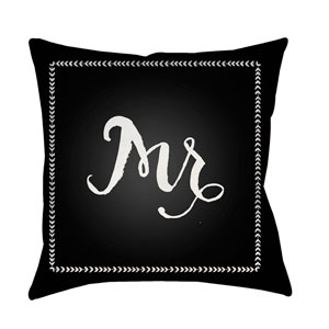 Husband Black and White 20 x 20-Inch Throw Pillow