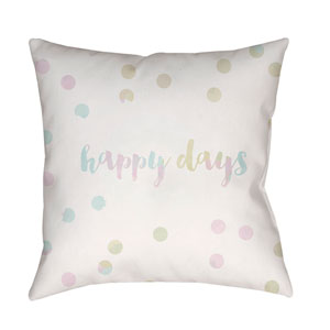 Happy Days Multicolor 18 x 18-Inch Throw Pillow
