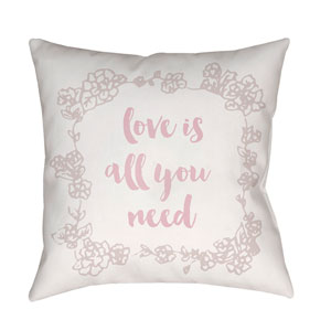 Love All You Need Multicolor 18 x 18-Inch Throw Pillow