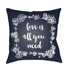 Love All You Need Black and White 20 x 20-Inch Throw Pillow
