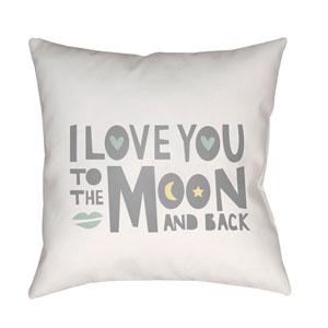 Love To Moon Multicolor 18 x 18-Inch Throw Pillow