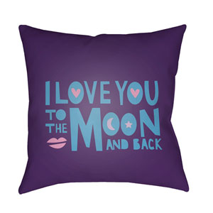 Love To Moon Multicolor 20 x 20-Inch Throw Pillow
