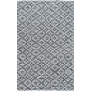 Quartz Slate and Navy Rectangular: 2 Ft x 3 Ft Rug