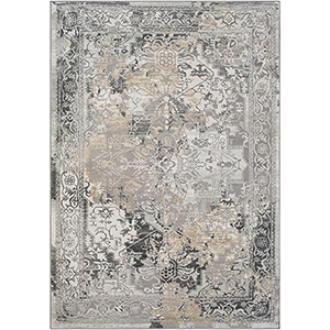 Quatro Medium Grey Rectangular: 2 Ft. x 3 Ft. Rug