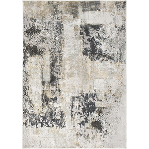 Quatro Silver and Beige Rectangular: 2 Ft. x 3 Ft. Rug