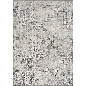 Quatro Silver and Grey Rectangular: 6 Ft. 7 In. x 9 Ft. 6 In. Rug