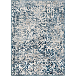 Quatro Dark Blue and Grey Rectangular: 2 Ft. x 3 Ft. Rug
